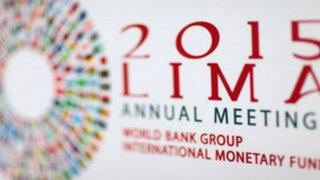 Reunión anual del Banco Mundial y FMI se inicia hoy en Lima