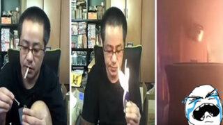 YouTube: solo quería encender un cigarro y terminó incendiando el lugar