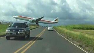 Costa Rica: avión realiza impresionante pero riesgoso aterrizaje