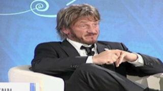 Sean Penn llegó a Lima para participar de cumbre del FMI y BM
