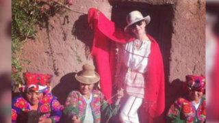 Katy Perry volvió a Perú para conocer el Lago Titicaca