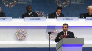 Presidente Humala inaugura sesión de Gobernadores del BM y FMI