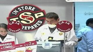 SMP: ladrones armados roban en local de comida rápida