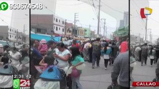 Callao: gran cantidad de ambulantes invaden avenida Sáenz Peña