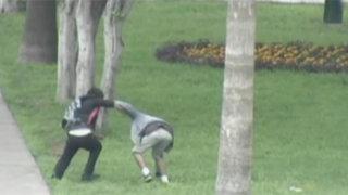 Surco: escolar se enfrenta a sujeto que le robó su celular