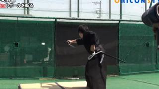 YouTube: famoso samurái vuelve a sorprender al cortar pelota que iba a 161 km/h
