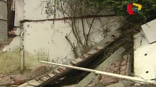 San Isidro: construcción provoca que se desplome pared de casa