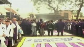Fe íntima: Alianza Lima estuvo en procesión del Señor de los Milagros