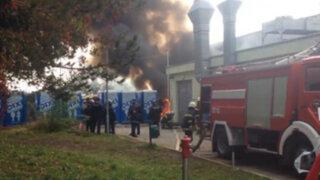 Incendio destruye campamento de refugiados en Eslovenia