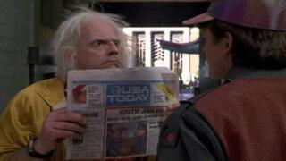 FOTOS: diario USA Today homenajea a Volver al Futuro II de esta forma