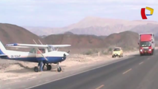 Nazca: dos avionetas realizan aterrizaje de emergencia