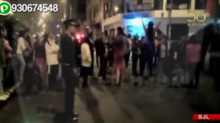Vecinos de SJL bloquean avenida exigiendo el desalojo de invasores