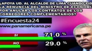 Encuesta 24: 71% apoya a Castañeda en pedido de renuncia de Segura