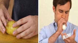 El método definitivo para pelar un huevo y una papa sancochada en segundos