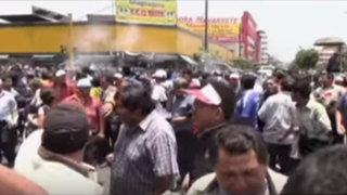 Centro de Lima: disturbios durante marcha de transportistas