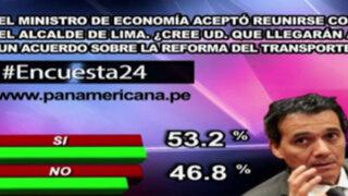 Encuesta 24: 53.2% cree que Segura y Castañeda llegarán a un acuerdo