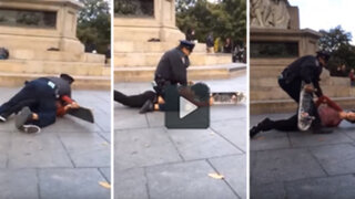 VIDEO: policía interviene violentamente a un skater en Nueva York