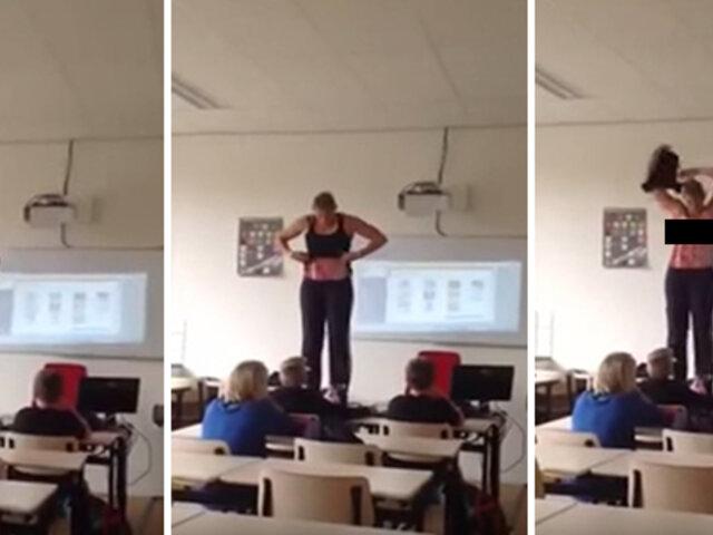 Holanda: profesora se 'desnudó' para enseñar anatomía a sus alumnos