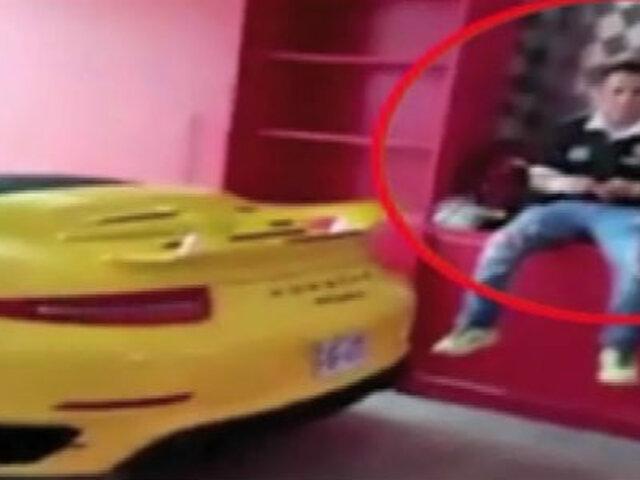 Aparece nuevo video de Gerald Oropeza antes de ser detenido