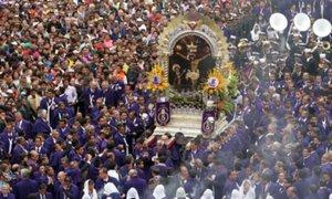 VIDEO: así fue la última procesión del año del Señor de los Milagros