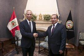 Ministro de Justicia visitó a presidente del Poder Judicial