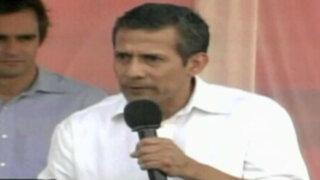 Ollanta Humala critica al Congreso por no eliminación del voto preferencial