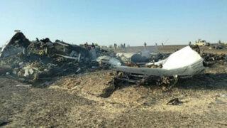 Egipto: bomba en bodega de equipaje habría causado caída de avión ruso