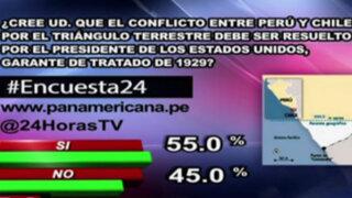 Encuesta 24: 55% a favor de que EEUU resuelva impasse entre Perú y Chile