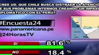 Encuesta 24: 81.6% cree que Chile busca generar distracción con impasse
