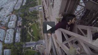 YouTube: burló la seguridad y escaló la Torre Eiffel de forma temeraria