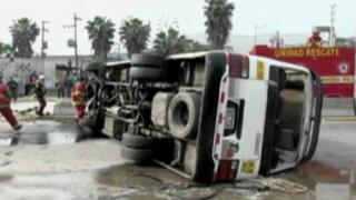 'Chosicano' provoca accidente y deja 15 heridos en la Carretera Central