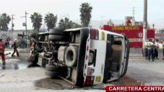 Chosicanos provocaron múltiple choque en la Carretera Central