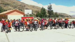 """Campaña """"Biciclaje"""" entrega 120 bicicletas a colegio de Cusco"""