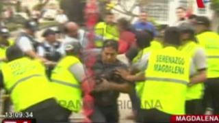 EXCLUSIVO: nuevo enfrentamiento entre vecinos de Magdalena y serenos por obra