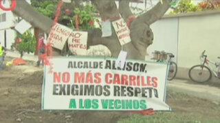 Vecinos se enfrentan a serenos por tala de árboles en Magdalena