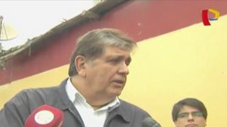 """Alan García calificó de """"autogol"""" plagio en 'Plan bicentenario'"""