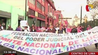 Trabajadores del Poder Judicial y MP inician huelga nacional indefinida