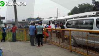 Trébol de Javier Prado: buses y combis provocan caos todos los días