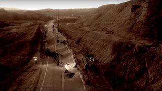YouTube: extraño fenómeno geológico destruye una carretera en California