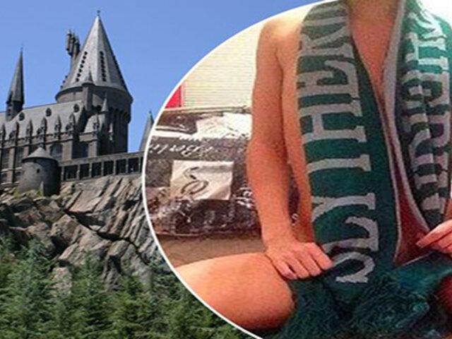 FOTOS: ofrece su cuerpo a quien la lleve a conocer el parque temático de Harry Potter