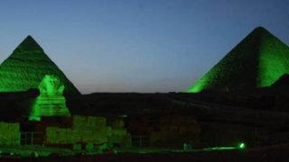 Monumentos del mundo se iluminan de verde por cambio climático