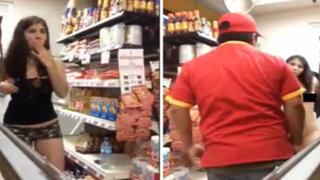 México: mujer se desnuda en pleno supermercado y desata escándalo en Internet