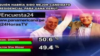 Encuesta 24: 50.6% cree que Urresti habría sido mejor candidato de Gana Perú