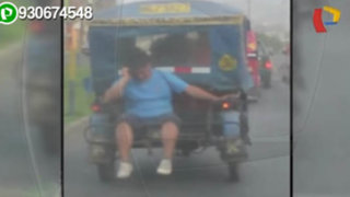 SJL: sujeto viaja temerariamente en la parte posterior de una mototaxi