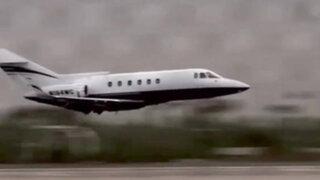 Mira la angustiante maniobra de un avión que logró descender sin tren de aterrizaje