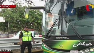 Policía Nacional inicia operativos en buses interprovinciales en Panamericana Sur