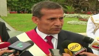 Humala arremete contra ex ministros del Interior que criticaron a la PNP