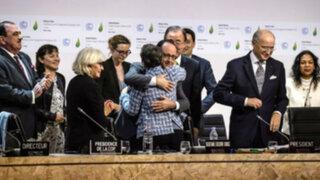 COP21: países lograron histórico acuerdo en París para reducir cambio climático