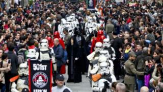 Fiebre mundial por estreno de 'Star Wars: el despertar de la fuerza'