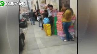 Centro de Lima: comerciantes de calzado invaden el jirón Junín